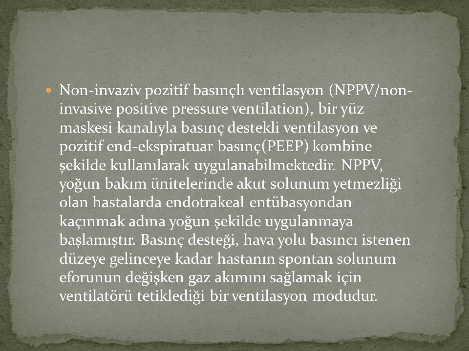 Non-invaziv pozitif basınçlı ventilasyon (NPPV/non- invasive positive pressure ventilation), bir yüz maskesi kanalıyla basınç destekli ventilasyon ve