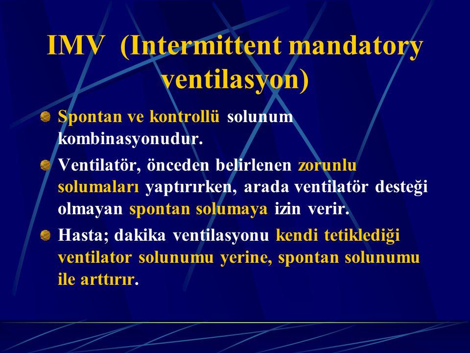 Spontan ve kontrollü solunum kombinasyonudur.