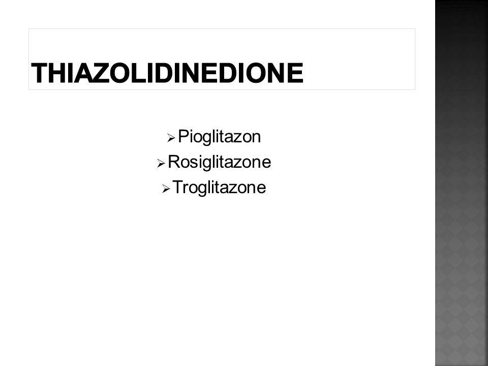  Pioglitazon  Rosiglitazone  Troglitazone