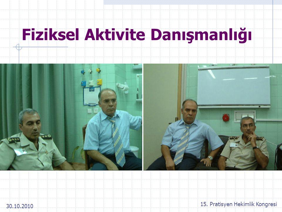 30.10.2010 15. Pratisyen Hekimlik Kongresi Fiziksel Aktivite Danışmanlığı