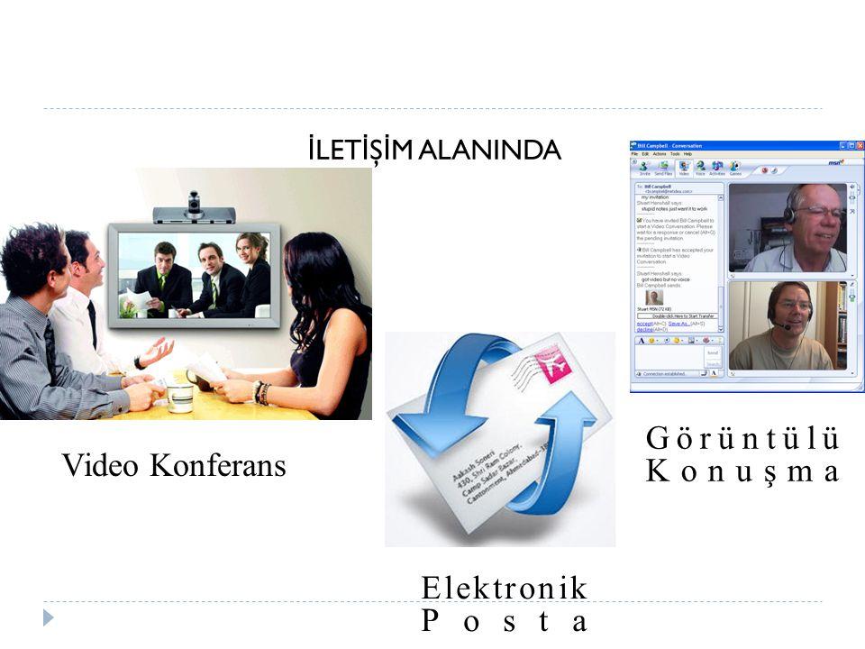 İ LET İ Ş İ M ALANINDA Video Konferans Elektronik Posta Görüntülü Konuşma