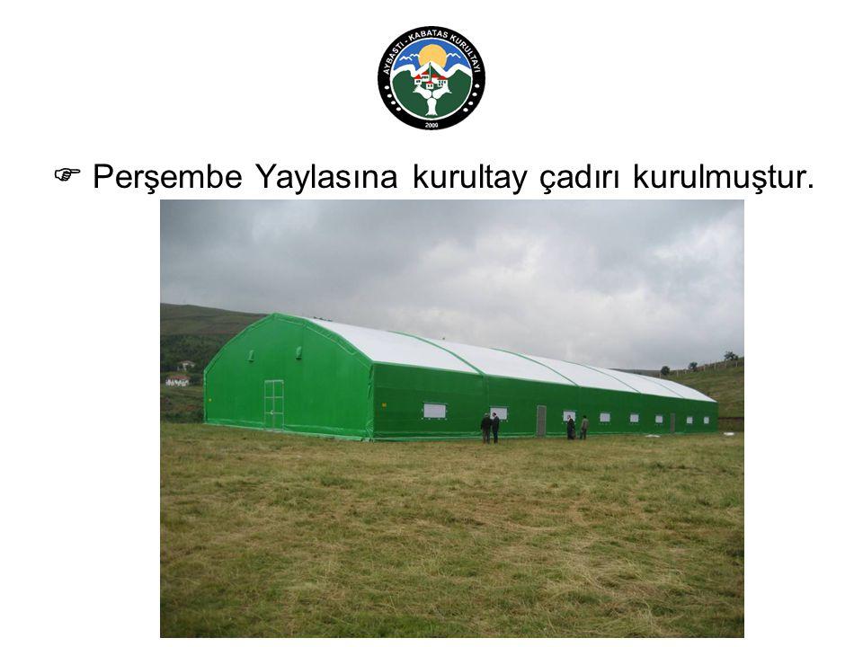  Perşembe Yaylasına kurultay çadırı kurulmuştur.