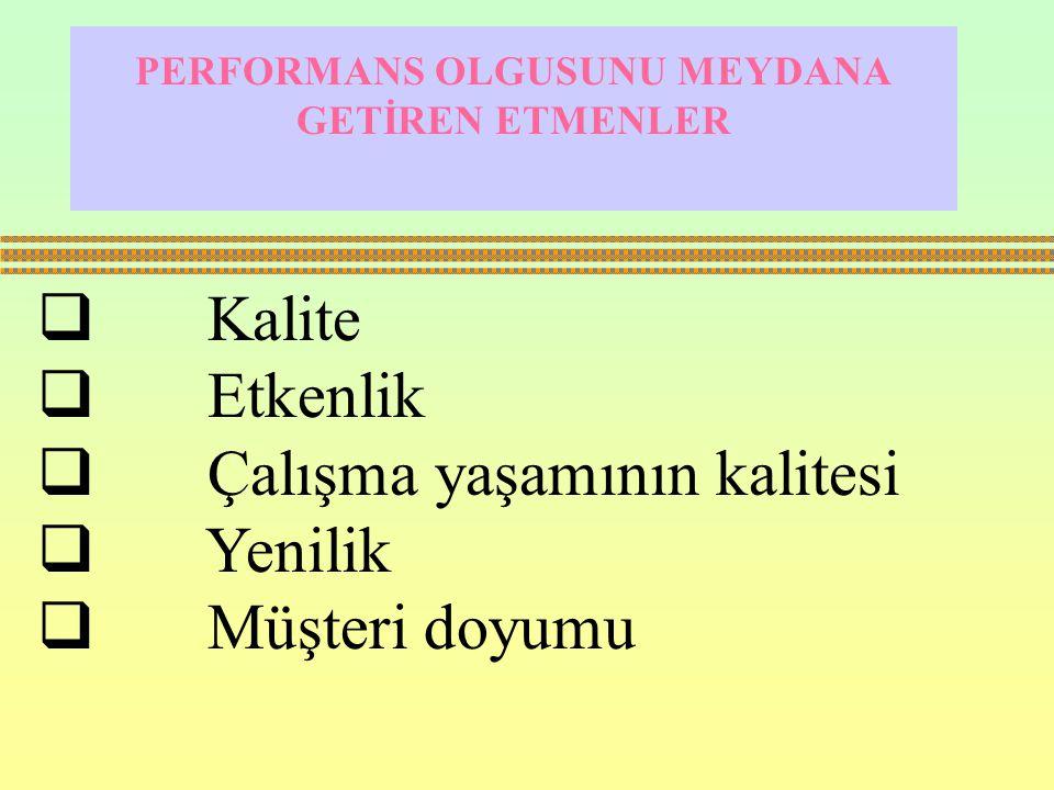 Klasik performans ölçüm kriterleri  Mali analizler  Maliyet ve üretim kontrolü  Verimlilik ölçümleridir