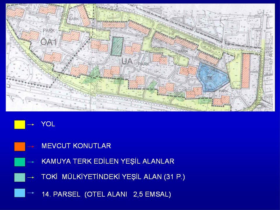 ATAKÖY I. ve II. Kısımlarda Kişi başına düşen yeşil alan 11.5 m2