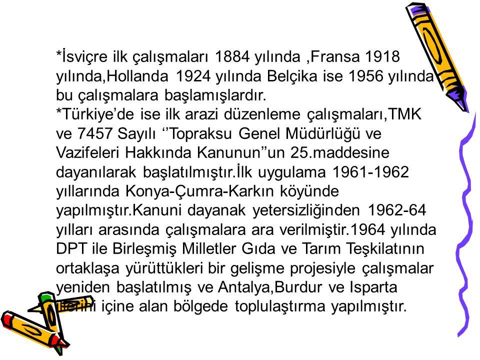 *İsviçre ilk çalışmaları 1884 yılında,Fransa 1918 yılında,Hollanda 1924 yılında Belçika ise 1956 yılında bu çalışmalara başlamışlardır.