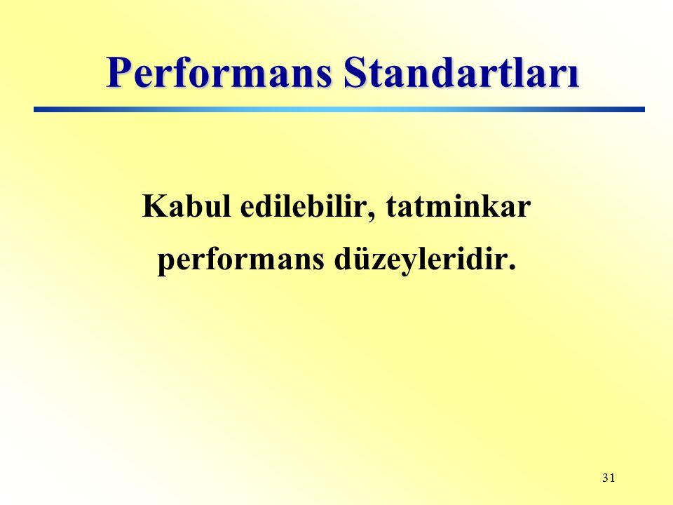 30 Eğitimde Performans Kriterleri