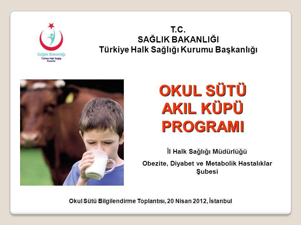 OKUL SAĞLIĞI HİZMETLERİ - 1593 sayılı Umumi Hıfzıssıhha Kanunu - Türkiye Sağlıklı Beslenme ve Hareketli Hayat Programı (2010-2014) kapsamında okul sağlığı hizmetleri sağlıklı beslenme ve fiziksel aktivite boyutu ile ele alınmıştır.