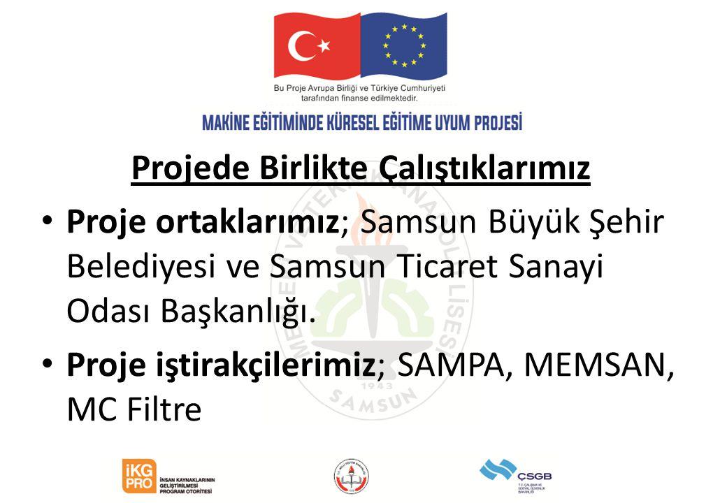 Yürütmekte olduğumuz proje Çalışma Sosyal Güvenlik Bakanlığı- Avrupa Birliği Koordinasyon Dairesi Başkanlığı Türkiye'de Mesleki ve Teknik Eğitimin Kalitesinin Arttırılması Operasyonu tarafından desteklenmektedir.(190.000 Avro)