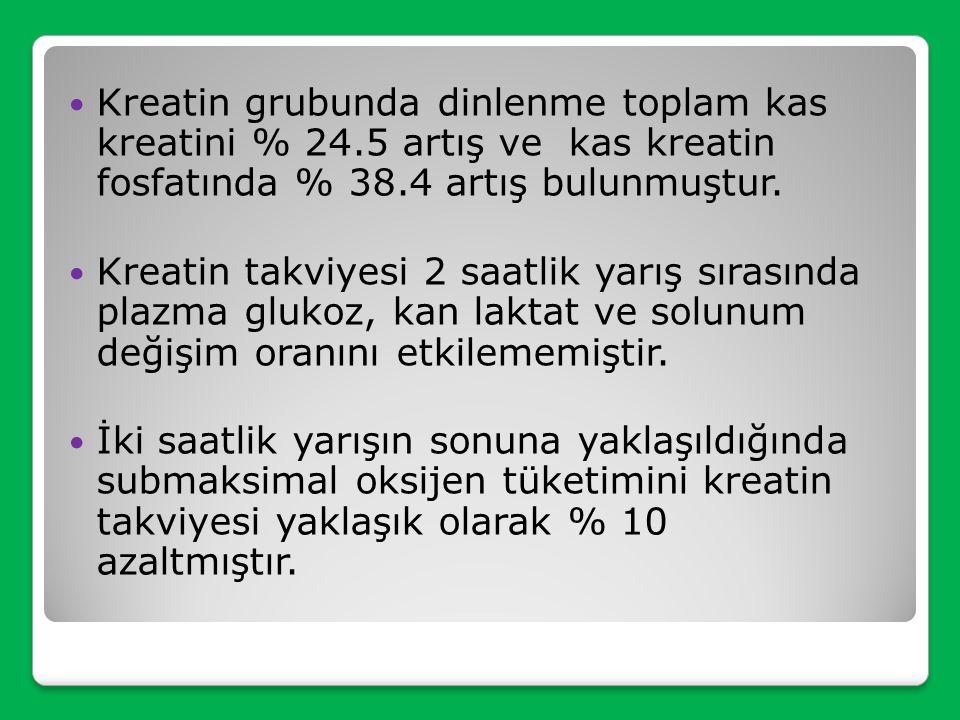 Çalışmaya yaşları ortalama 27.3 ± 1.0 yıl, boyları 178.6 ± 1.4 cm, vücut ağırlıkları 78.0 ± 2.5 kg, % yağ miktarları 8.9 ± 1.1 olan on iki yetişkin er