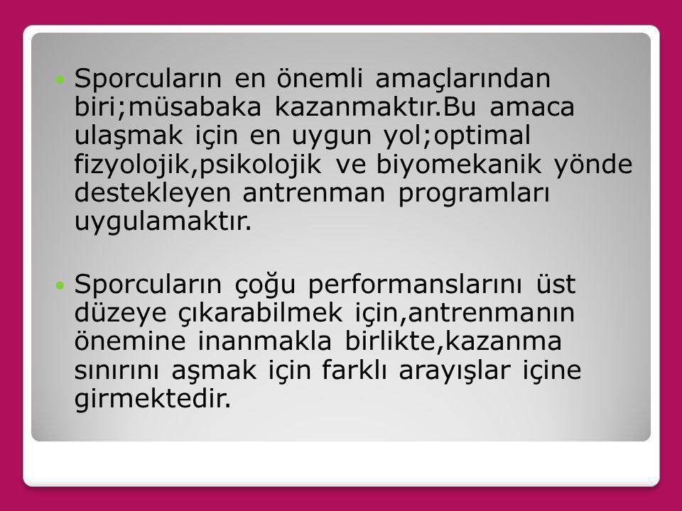 TC.Sağlık Bakanlığı Temel Sağlık Hizmetleri Genel Müdürlüğü/Hacettepe Üniversitesi Beslenme ve Diyetetik Bölümü.Sporcu Beslenmesi,ANKARA,2008. Sporcul