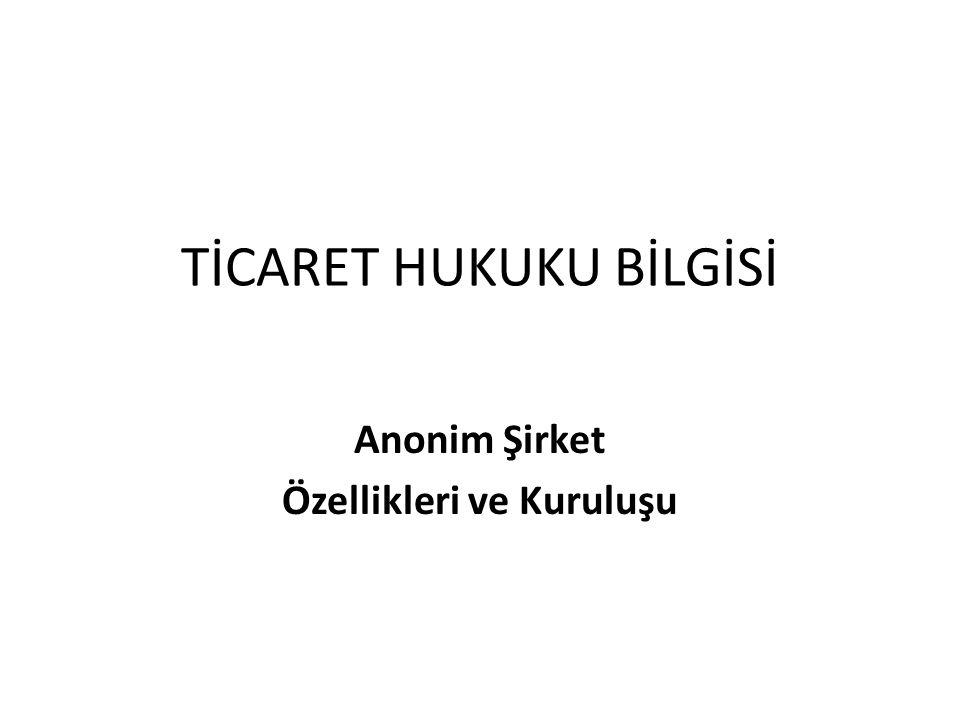 Kurucuların Nitelikleri TTK md.