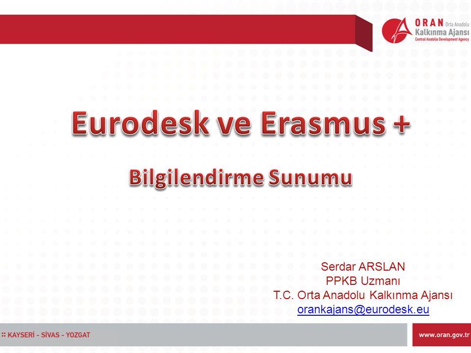 Serdar ARSLAN PPKB Uzmanı T.C. Orta Anadolu Kalkınma Ajansı orankajans@eurodesk.eu