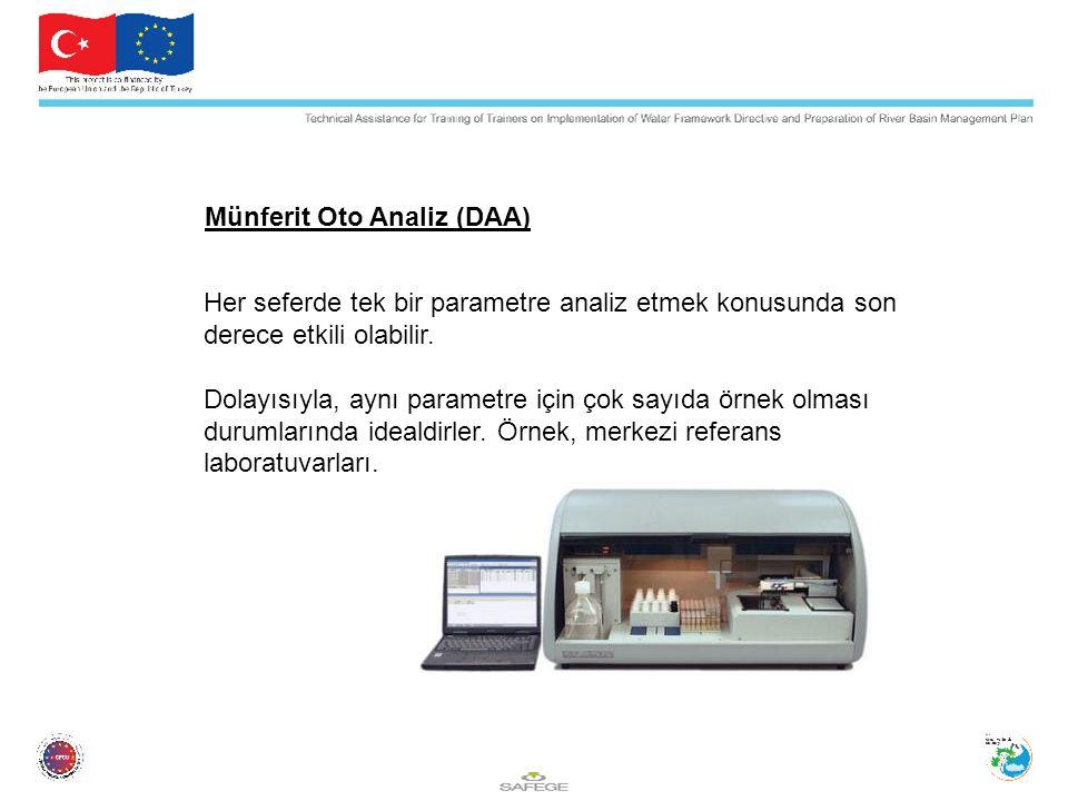 Münferit Oto Analiz (DAA) Her seferde tek bir parametre analiz etmek konusunda son derece etkili olabilir.