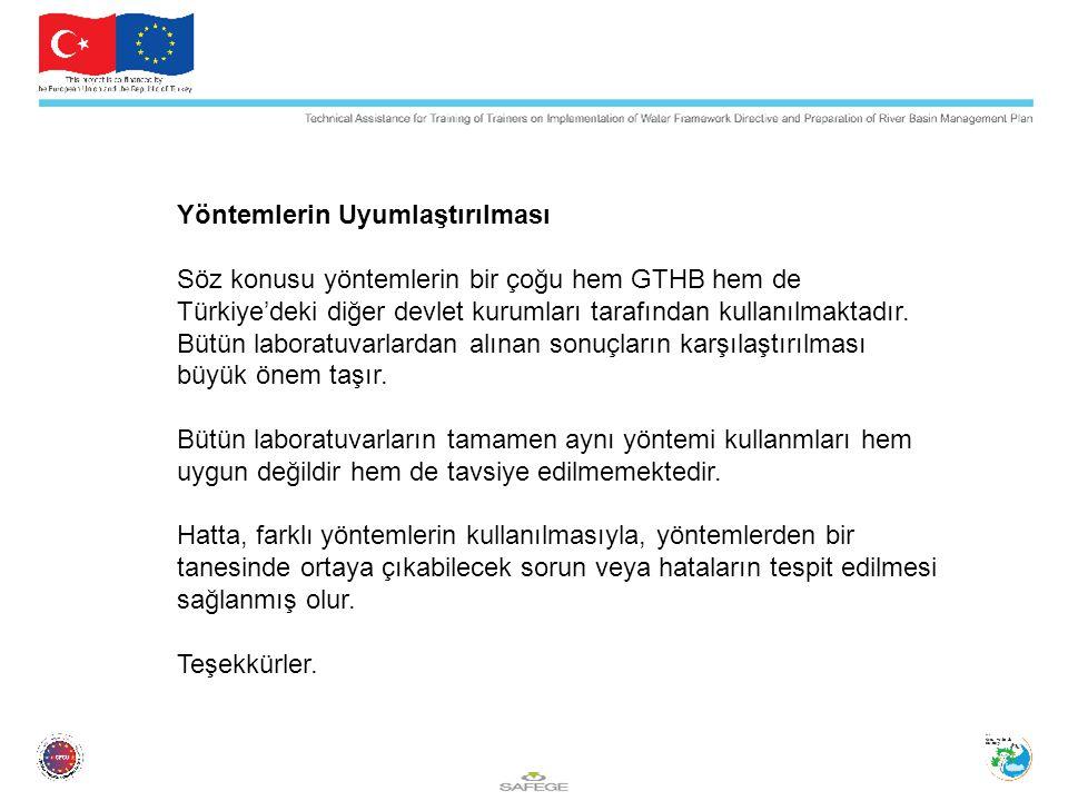 Yöntemlerin Uyumlaştırılması Söz konusu yöntemlerin bir çoğu hem GTHB hem de Türkiye'deki diğer devlet kurumları tarafından kullanılmaktadır.