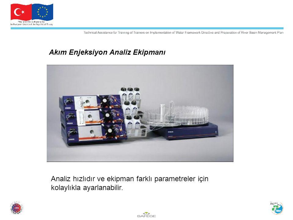 Akım Enjeksiyon Analiz Ekipmanı Analiz hızlıdır ve ekipman farklı parametreler için kolaylıkla ayarlanabilir.