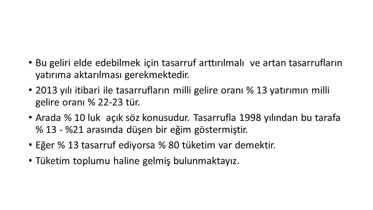Örnek olarak 1960 yılında bizimle kalkınma yarışına giren Güney Kore de kişi başına düşen milli gelir 155 $ iken Türkiyede 500 $'dı.
