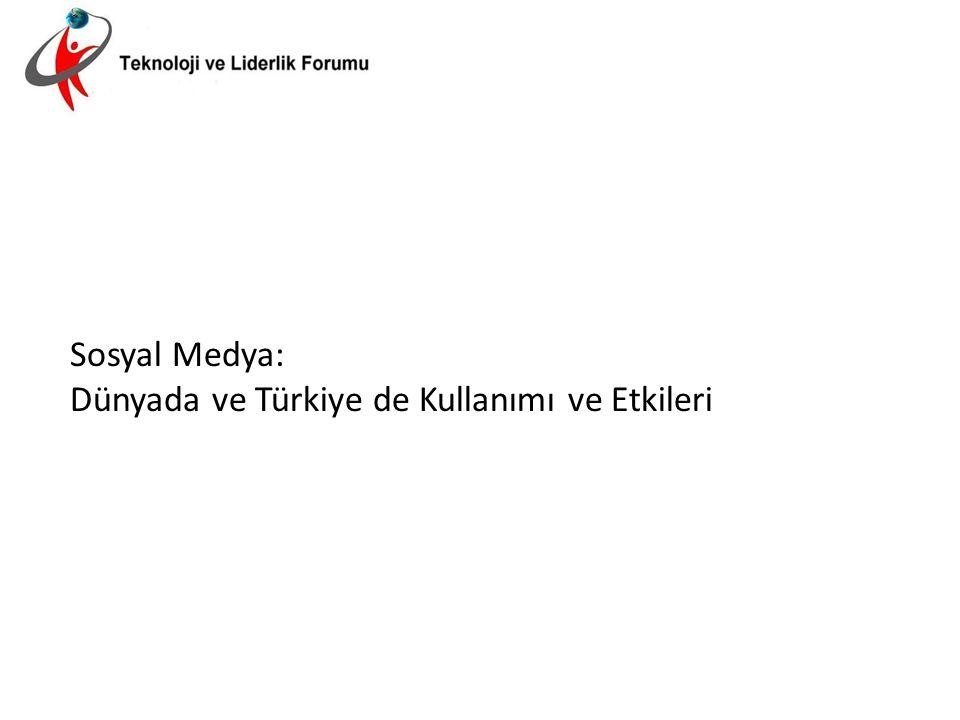 Sosyal Medya: Dünyada ve Türkiye de Kullanımı ve Etkileri