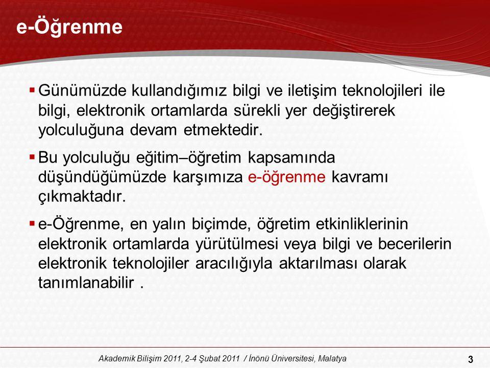 34 Akademik Bilişim 2011, 2-4 Şubat 2011 / İnönü Üniversitesi, Malatya Ağ Günlükleri (Bloglar)  Ağ günlükleri (Bloglar) son yıllarda yoğun ilgi çeken işbirlikçi ortamlardandır.