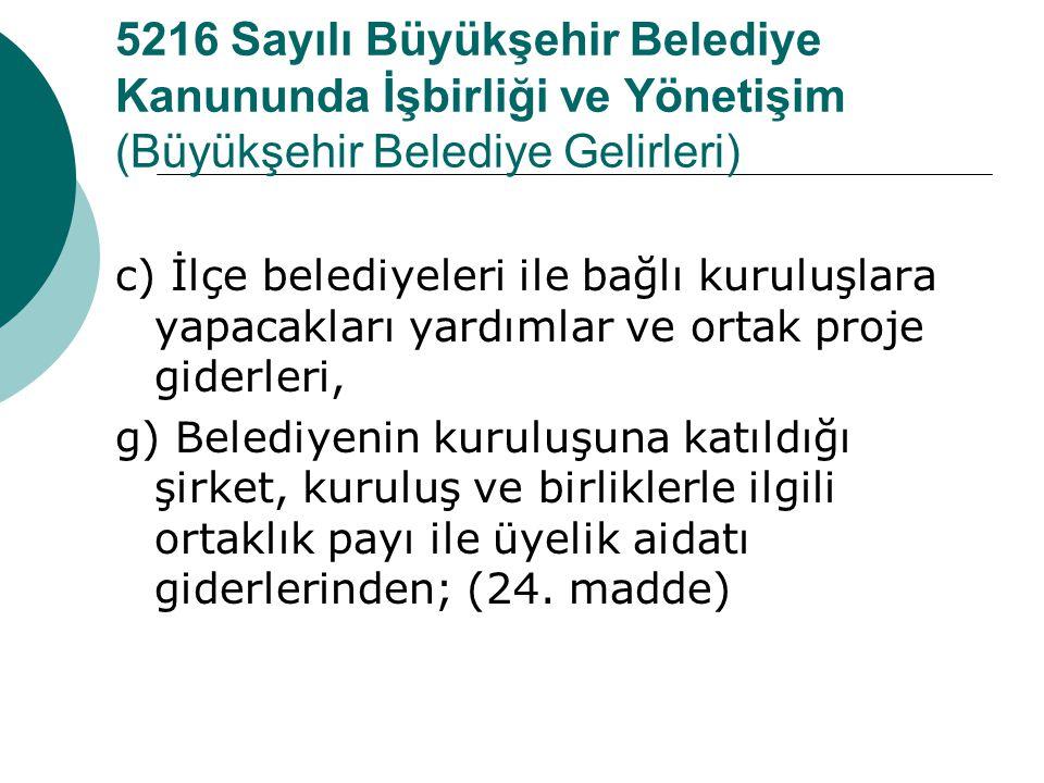 Belediyeler arası hizmet ilişkileri ve koordinasyon  Madde 27- (Değişik birinci fıkra: 12/11/2012-6360/11 md.) Büyükşehir kapsamındaki belediyeler ar