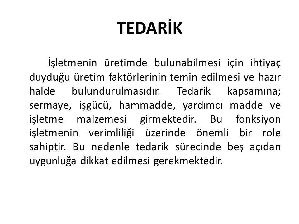 TEDARİK 1.