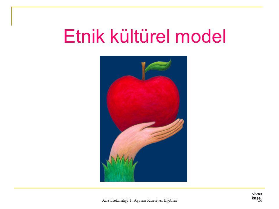 Aile Hekimliği 1. Aşama Kursiyer Eğitimi 26 Etnik kültürel model Sivas kaşe