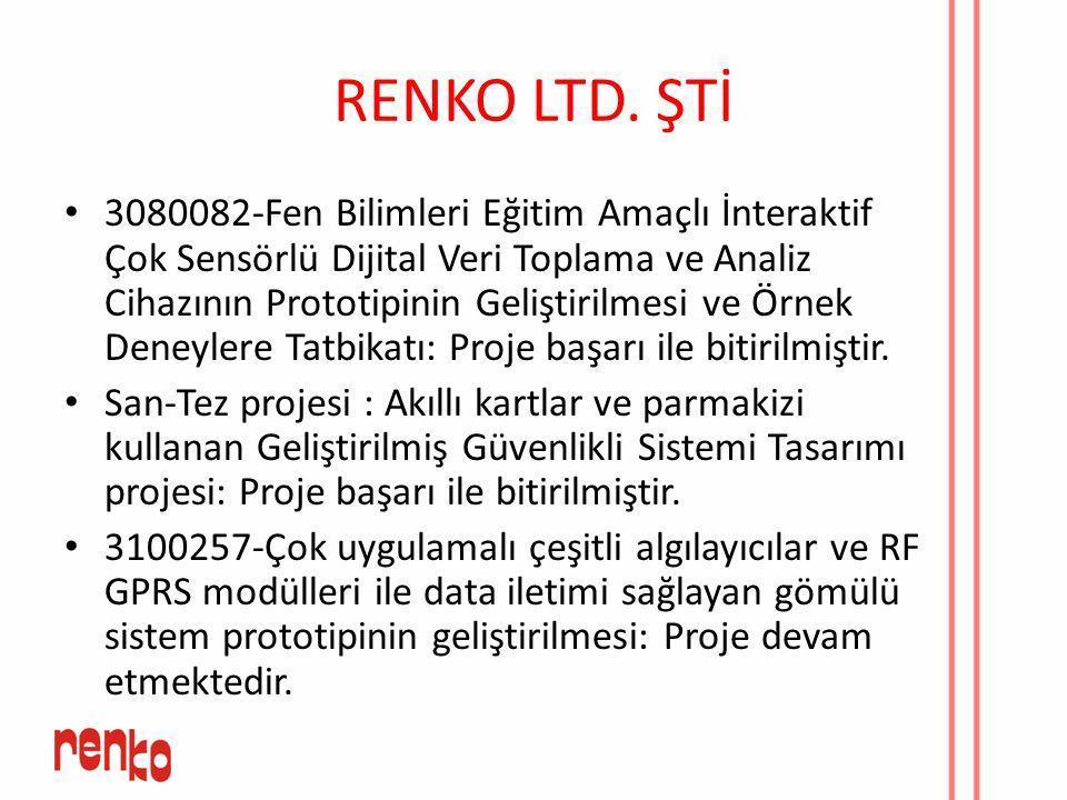 RENKO LTD. ŞTİ 3080082-Fen Bilimleri Eğitim Amaçlı İnteraktif Çok Sensörlü Dijital Veri Toplama ve Analiz Cihazının Prototipinin Geliştirilmesi ve Örn