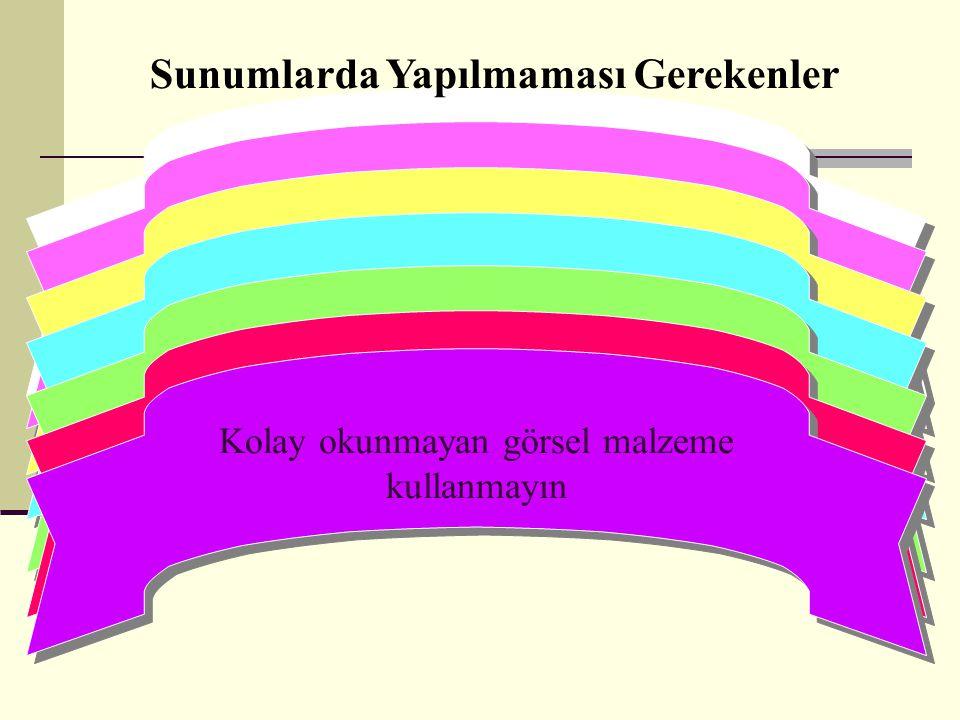 Gösterilen PP slayt'ta yazılı olan metindeki cümlelerin tıpa tıp aynısını konuşmanızda kullanmayın Gösterilen PP slayt'ta yazılı olan metindeki cümlel