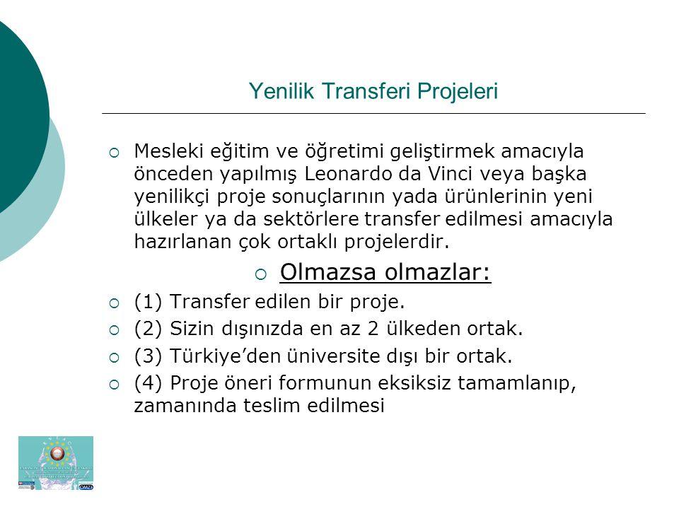 1.Transfer edilecek projenin bulunması  www.ua.gov.tr-- Hayat boyu Öğrenme—Leonardo –İlgili Siteler– Compendium (AB Komisyonunca desteklenen B &C tipi projeler katoloğu) www.ua.gov.tr--  http://ec.europa.eu/education/programmes/leona rdo/new/leonardo2/products/index_en.cfm http://ec.europa.eu/education/programmes/leona rdo/new/leonardo2/products/index_en.cfm  LANCAM - Languages for Contract Administration and Management in Construction  Proje Sahibi: De Monfort University  İrtibat Kurulacak Kişi (Contact Person): Dr.
