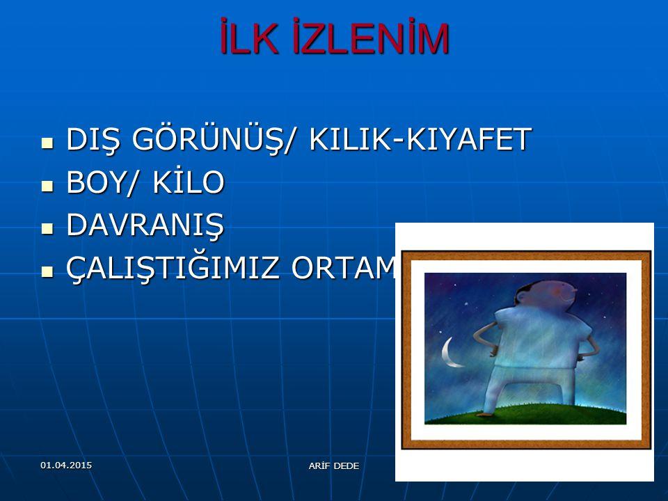 01.04.2015 ARİF DEDE 24 GÖRSEL ETKİ / GÖRSEL İLETİŞİM İLK İZLENİM
