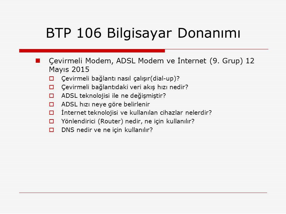 Çevirmeli Modem, ADSL Modem ve İnternet (9. Grup) 12 Mayıs 2015  Çevirmeli bağlantı nasıl çalışır(dial-up)?  Çevirmeli bağlantıdaki veri akış hızı n