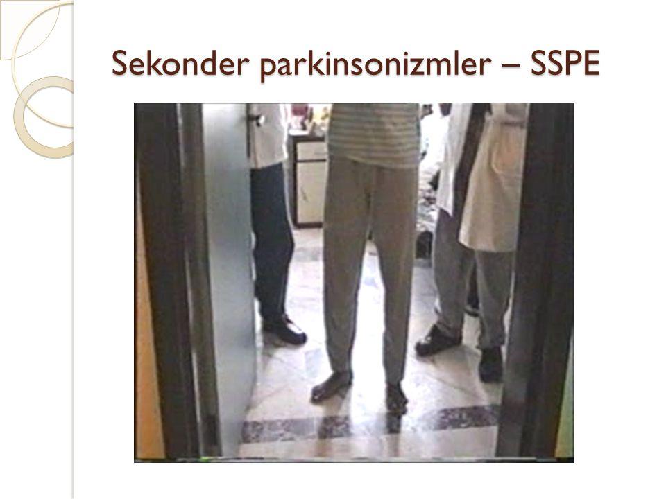 Sekonder parkinsonizmler – SSPE
