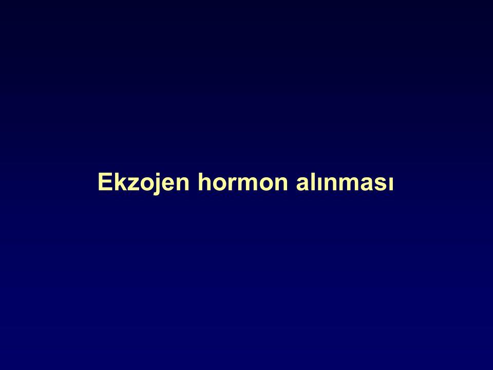 Ekzojen hormon alınması
