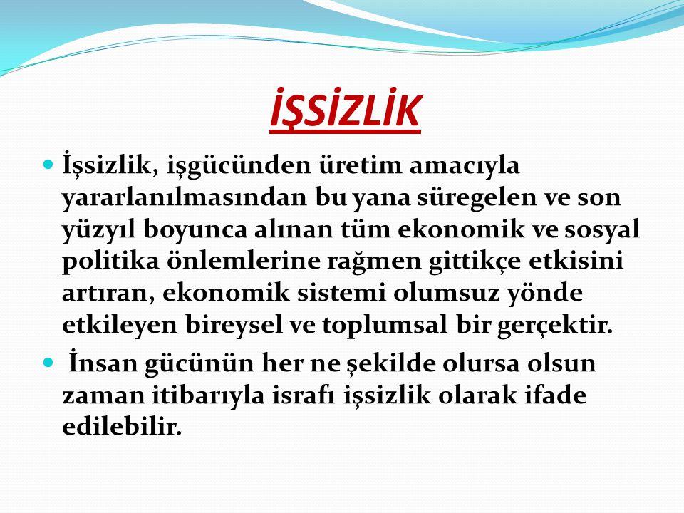 İŞSİZLİKLE MÜCADELEDE ÇÖZÜM ÖNERİLERİ Türkiye'de sağlıklı ve etkin bir iş gücü piyasasının varlığı, sürdürebilir bir büyüme ortamının sağlanması ve ekonomik rekabet gücünün artırılması açısından büyük önem taşımaktadır.