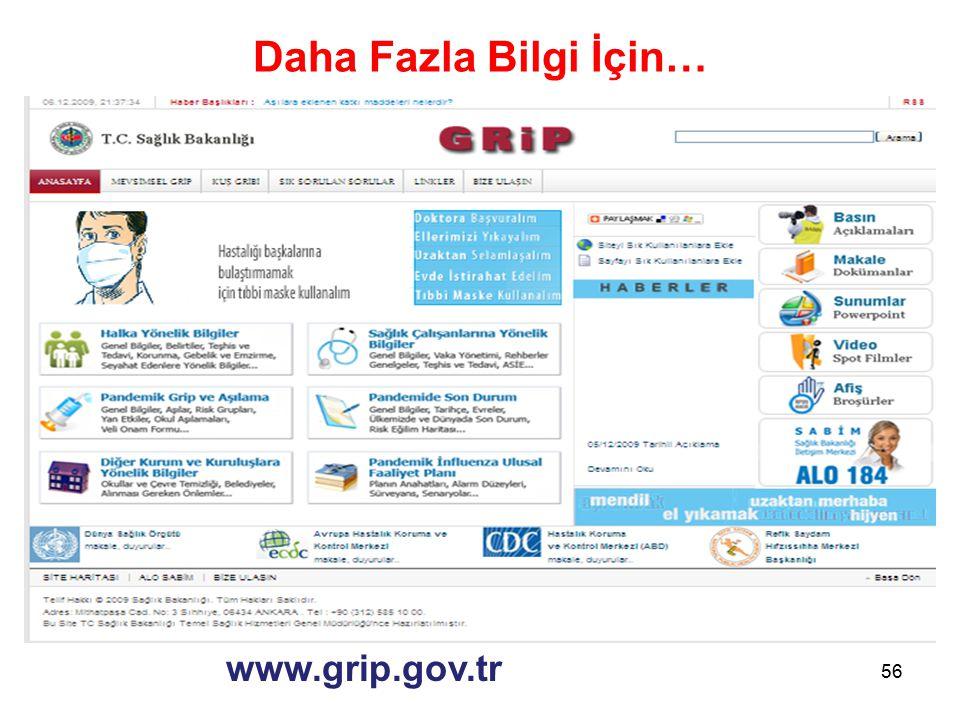 Daha Fazla Bilgi İçin… 56 www.grip.gov.tr