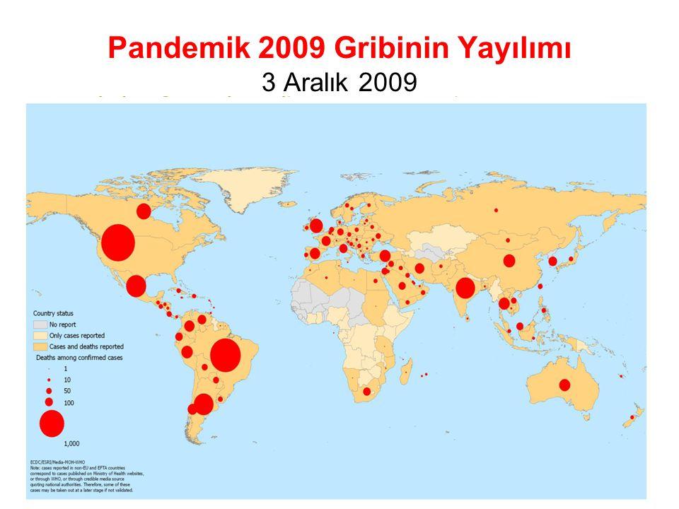 Pandemik 2009 Gribinin Yayılımı 3 Aralık 2009 9
