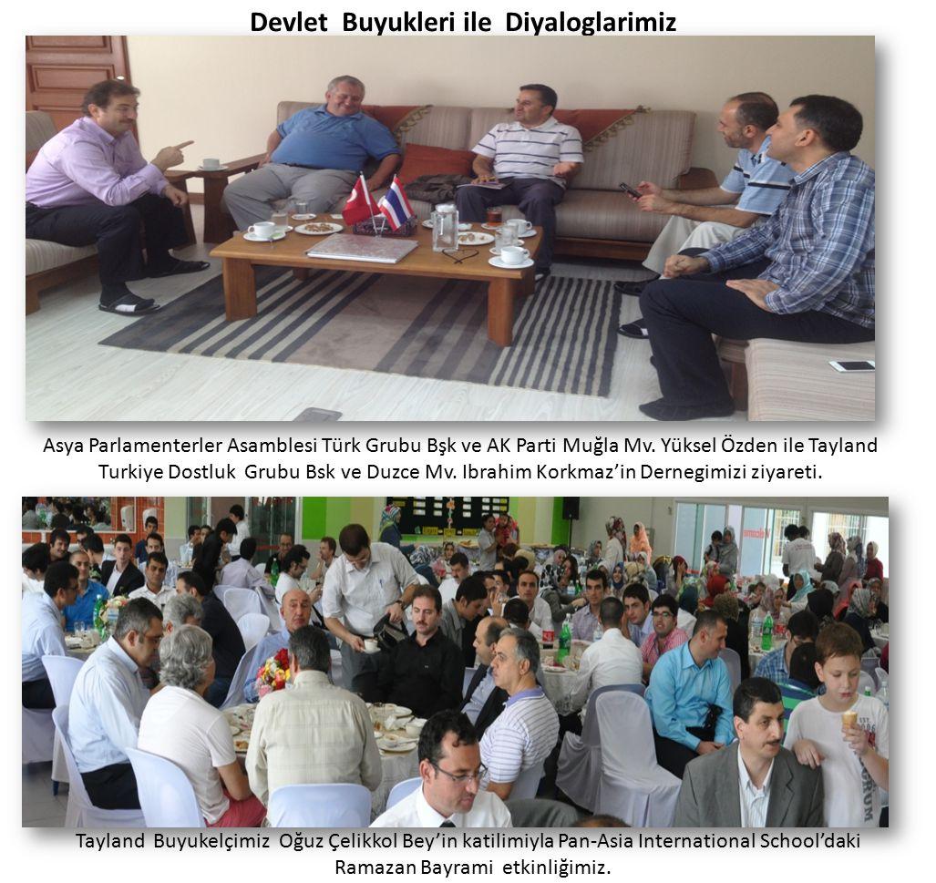 Devlet Buyukleri ile Diyaloglarimiz Tayland Buyukelçimiz Oğuz Çelikkol Bey'in katilimiyla Pan-Asia International School'daki Ramazan Bayrami etkinliği