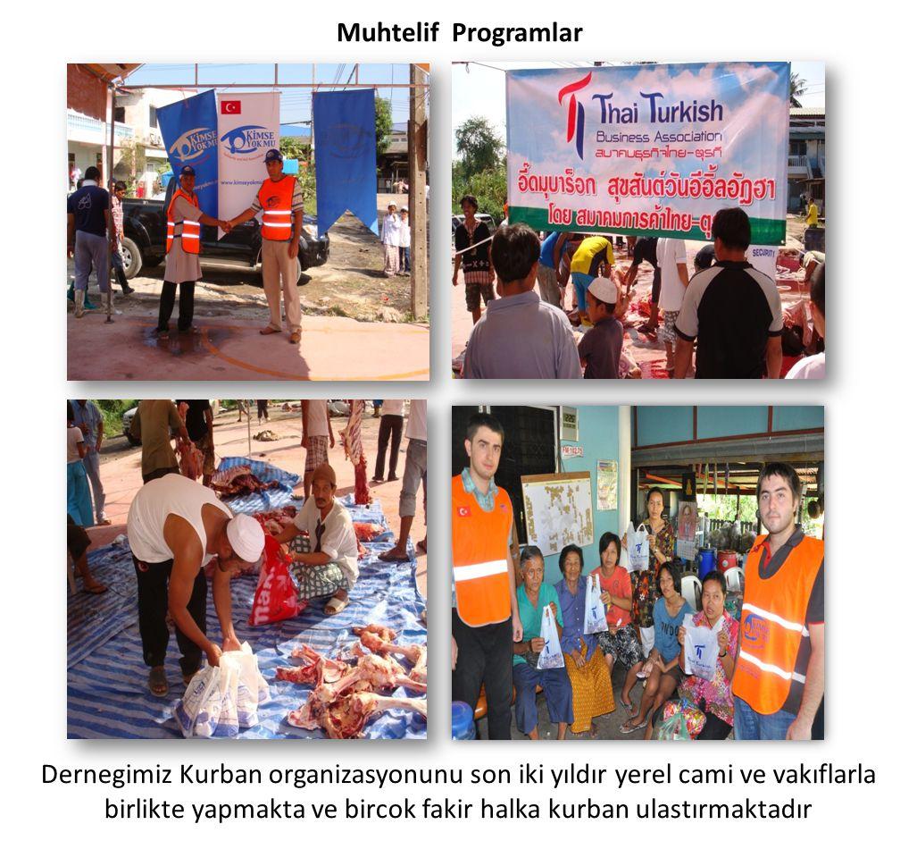 Muhtelif Programlar Dernegimiz Kurban organizasyonunu son iki yıldır yerel cami ve vakıflarla birlikte yapmakta ve bircok fakir halka kurban ulastırma