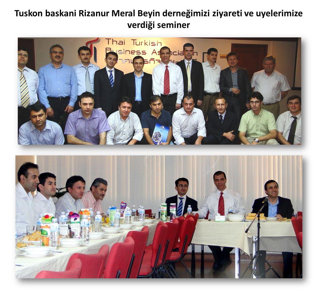Tuskon baskani Rizanur Meral Beyin derneğimizi ziyareti ve uyelerimize verdiği seminer