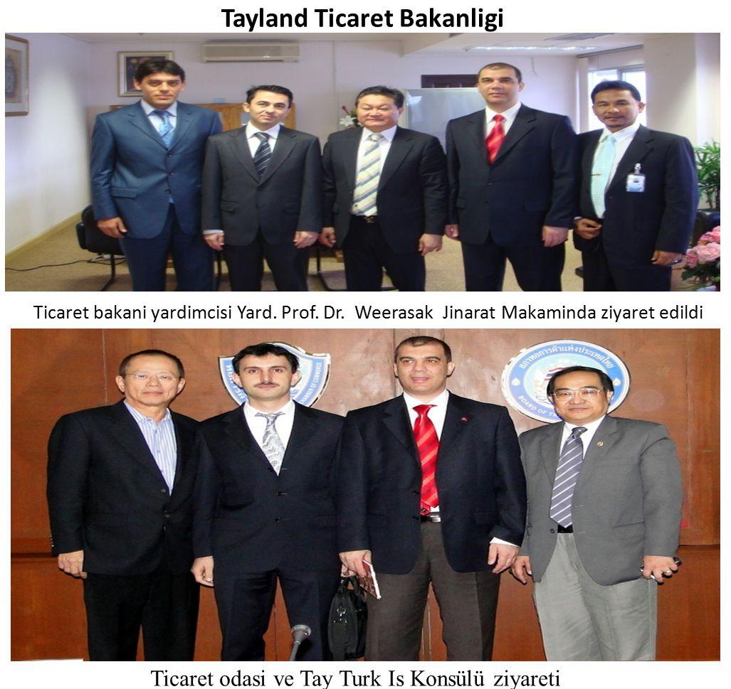 Tayland Ticaret Bakanligi Ticaret bakani yardimcisi Yard. Prof. Dr. Weerasak Jinarat Makaminda ziyaret edildi Ticaret odasi ve Tay Turk Is Konsülü ziy