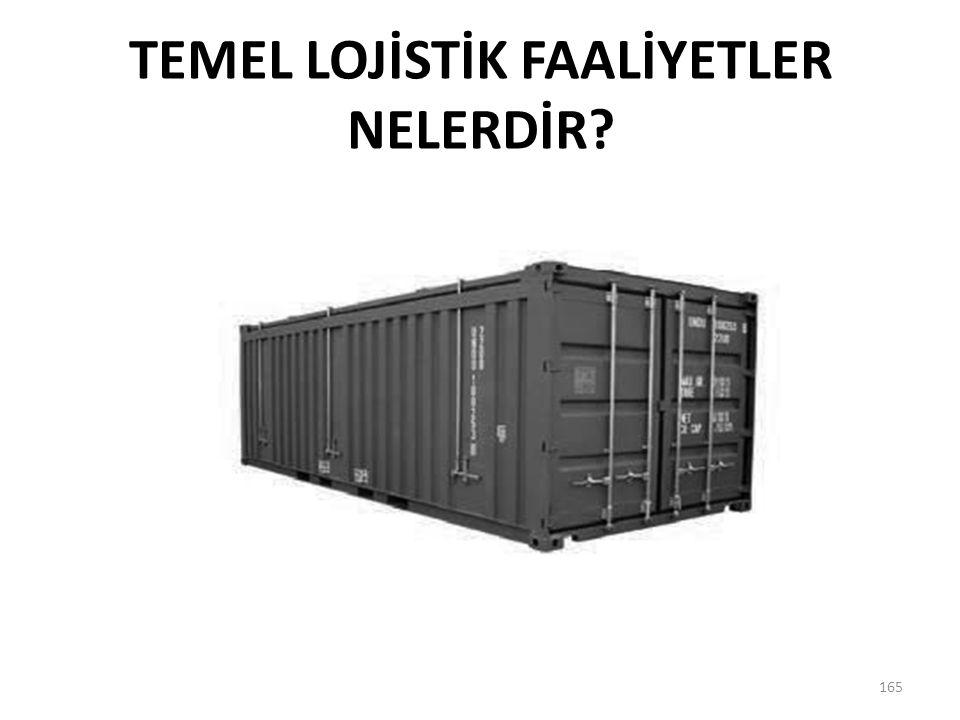 TEMEL LOJİSTİK FAALİYETLER NELERDİR? 165
