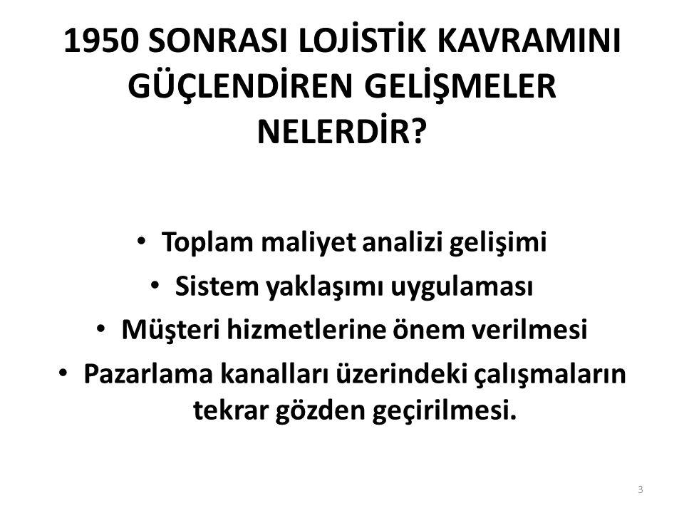 TEMEL LOJİSTİK FAALİYETLER NELERDİR.