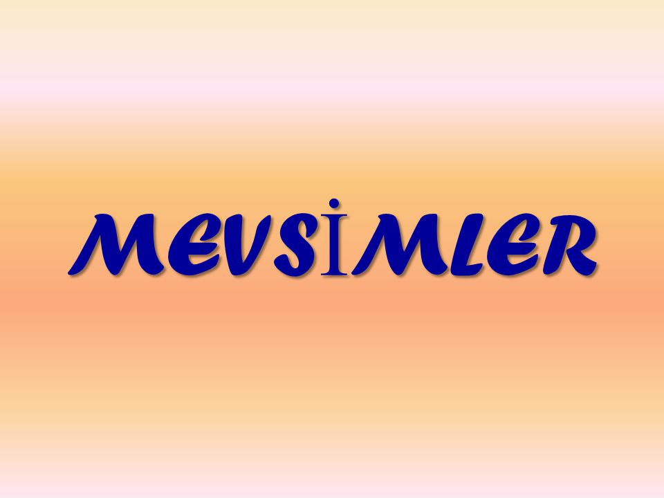 MEVS İ MLER