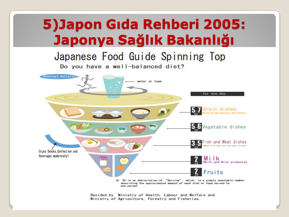 5)Japon Gıda Rehberi 2005: Japonya Sağlık Bakanlığı