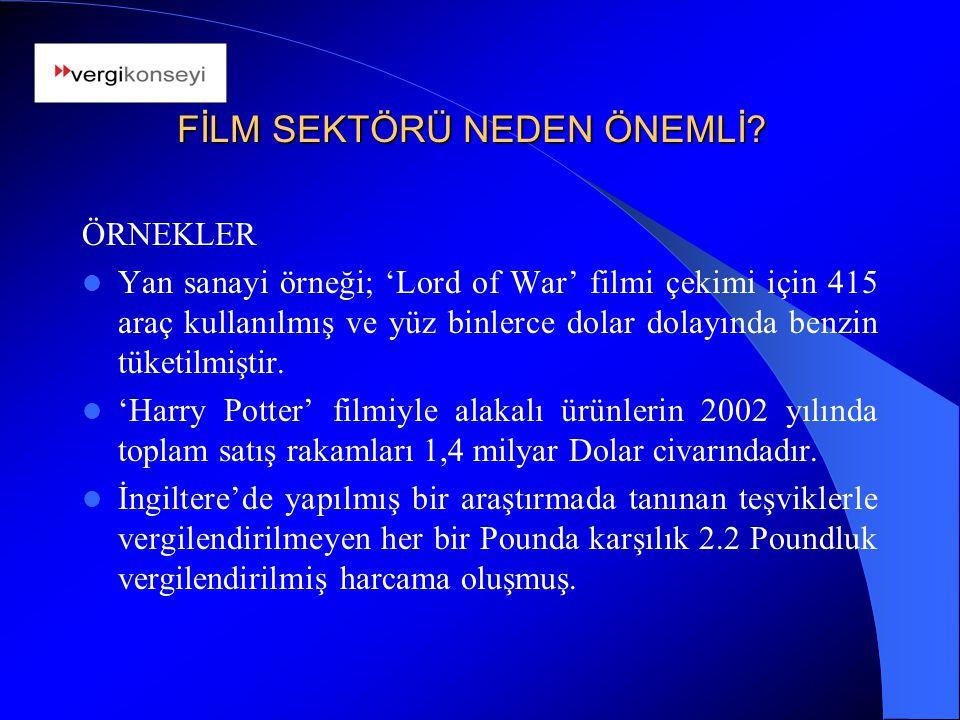HEDEFLER VE ÖNERİLER Kurumsal alt yapının güçlendirilmesi amacıyla; 'Türk Sinema Konseyi'nin kurulması,