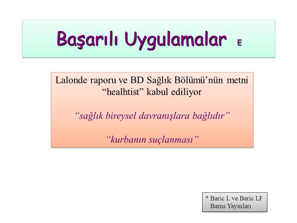 Başarılı Uygulamalar E * Baric L ve Baric LF Barns Yayınları * Baric L ve Baric LF Barns Yayınları