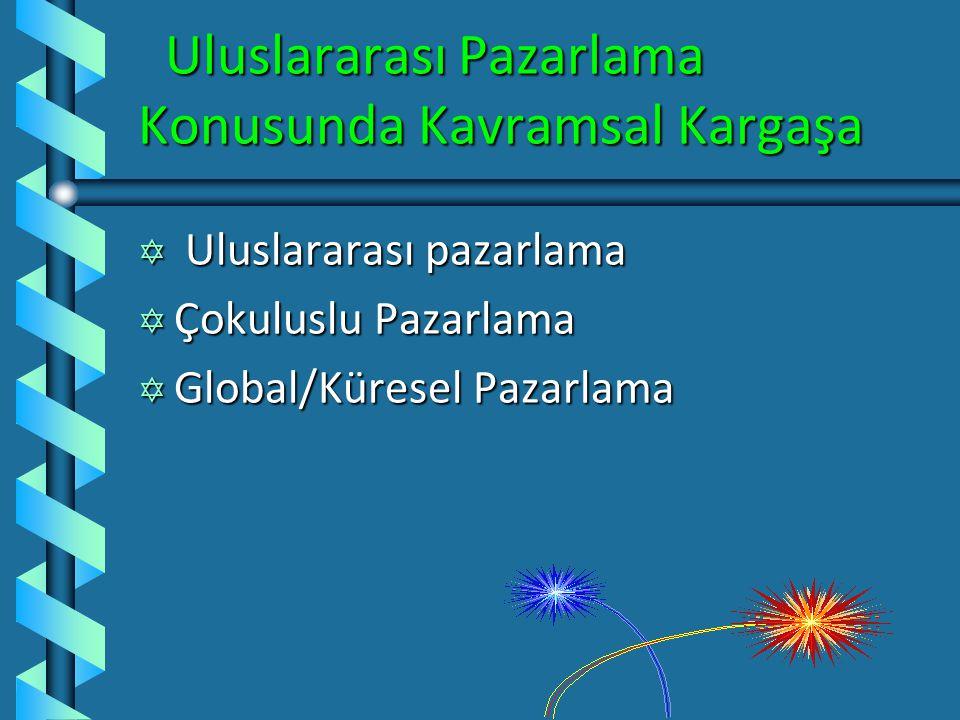 Uluslararası Pazarlama Konusunda Kavramsal Kargaşa Uluslararası Pazarlama Konusunda Kavramsal Kargaşa Y Uluslararası pazarlama Y Çokuluslu Pazarlama Y Global/Küresel Pazarlama