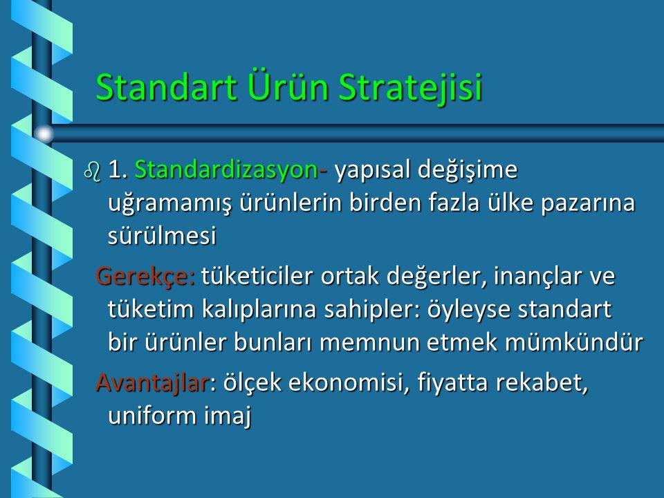 83 Küresel Ürün Stratejileri (Keegan) b Stratejik Alternatif 1: Ürün ve İletişim Genişletme – İkili genişlemeÜrün ve İletişim Genişletme – İkili geniş