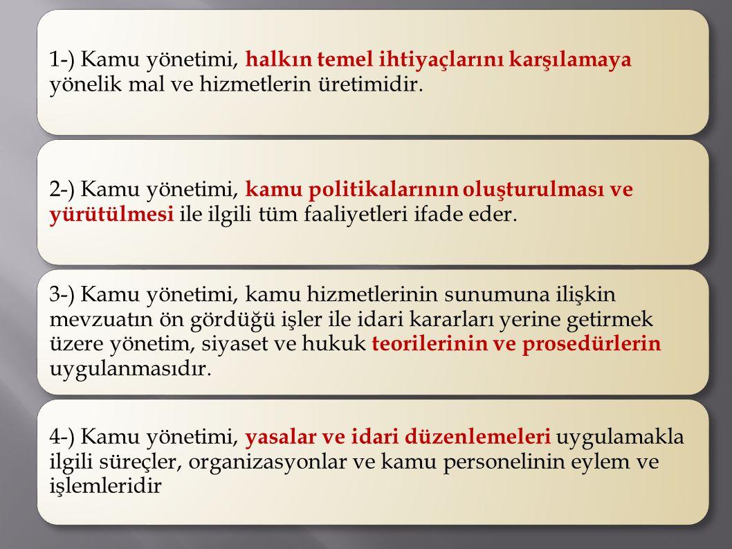 Kamu yönetiminin dördüncü elemanı norm düzendir.