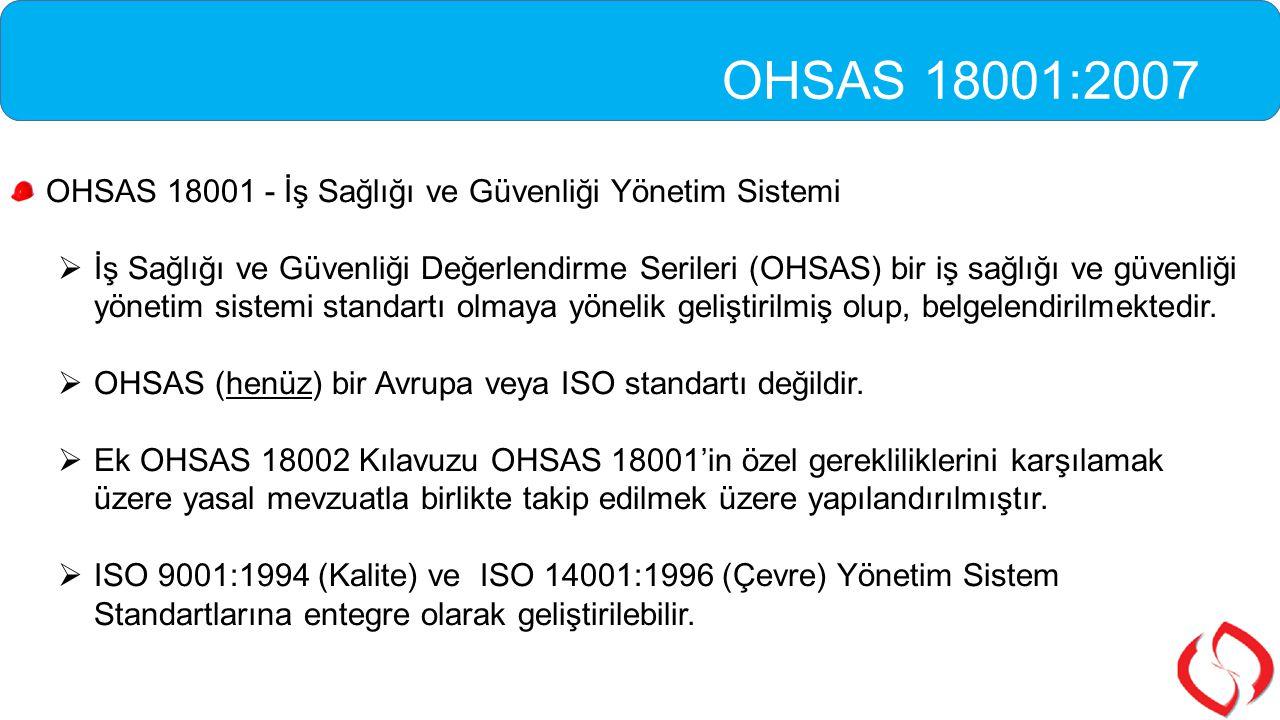 OHSAS 18001 - İş Sağlığı ve Güvenliği Yönetim Sistemi  İş Sağlığı ve Güvenliği Değerlendirme Serileri (OHSAS) bir iş sağlığı ve güvenliği yönetim sis