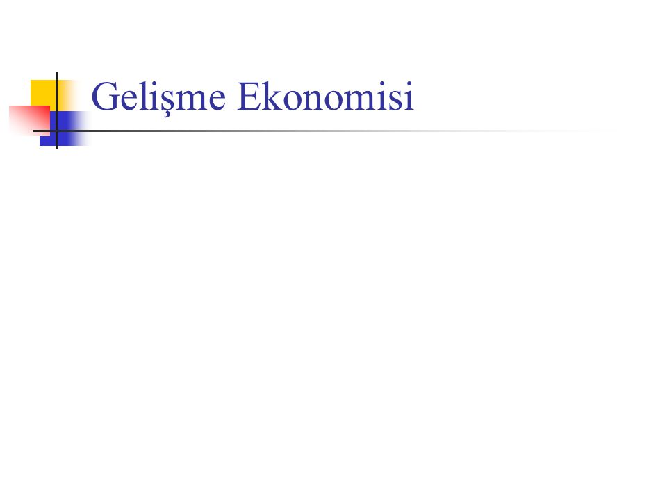 Kuznets Eğrisi – Ters-U Kuramı